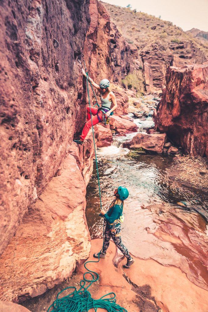 Climbing in La Sorrueda